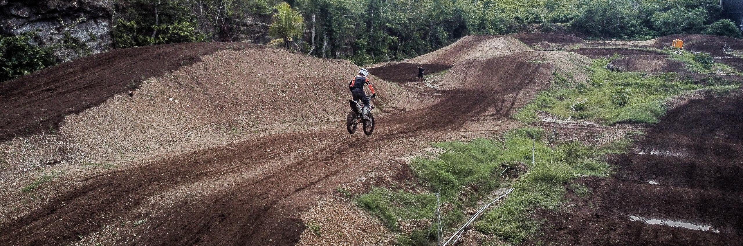 Motocross Action In Bali Dirt Bike Park